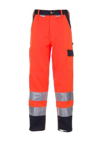 Planam Warnschutz Herren Bundhose 2-farbig orange marine Modell 2016