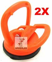 (2) 2.5 Mini Suction Cup Puller Quick Locking Glass Metal Lifter & More