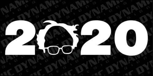 Bernie Sanders 2020 sticker BUY 2 GET 1 president democrat vinyl window glasses