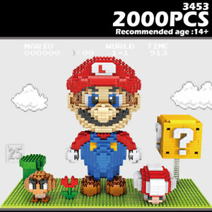 ZMS Building Blocks Super Mario Series Diamond Micro Brick DIY Toys Gift 2000PCS