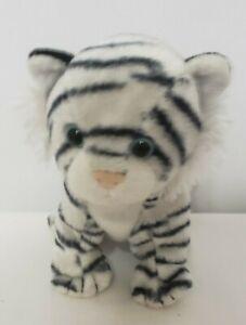 "RETIRED Ty Beanie Baby Stuffed Plush Teegra 2007 White Striped Tiger 6"""