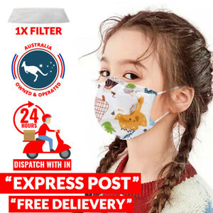 Kids Anti Dust Reusable Washable Cloth Face Mask with Breather Valve and Filter