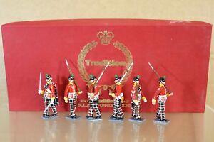 Tradition Toy Soldiers 87 - Ensemble d'infanterie légère des Highlands, en boîte de menthe, Nq