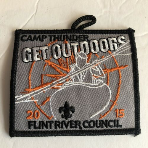 Boy Scout Patch 2015 Camp Thunder Get Outdoors Flint River Council