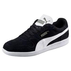 Puma Icra Suede Sneaker Unisex Fußball Trainer Schuh Herren Frauen schwarz weiß