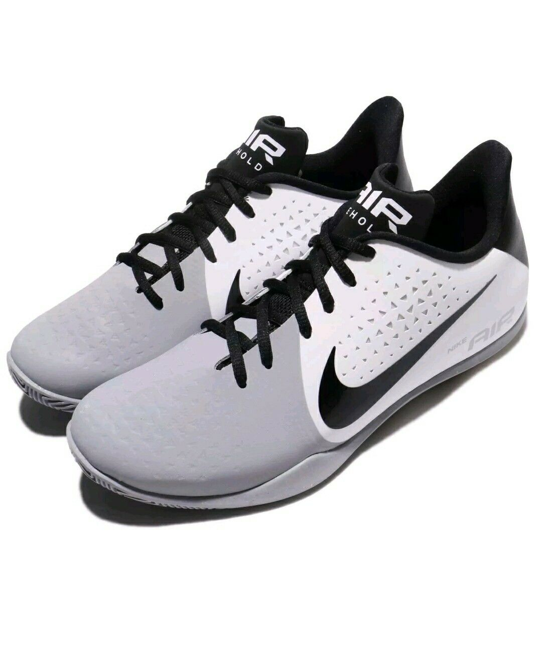 NIKE AIR BEHOLD LOW WHITE/BLACK-WOLF GREY BASKETBALL SHOES ( 898450 101 )SZ 14
