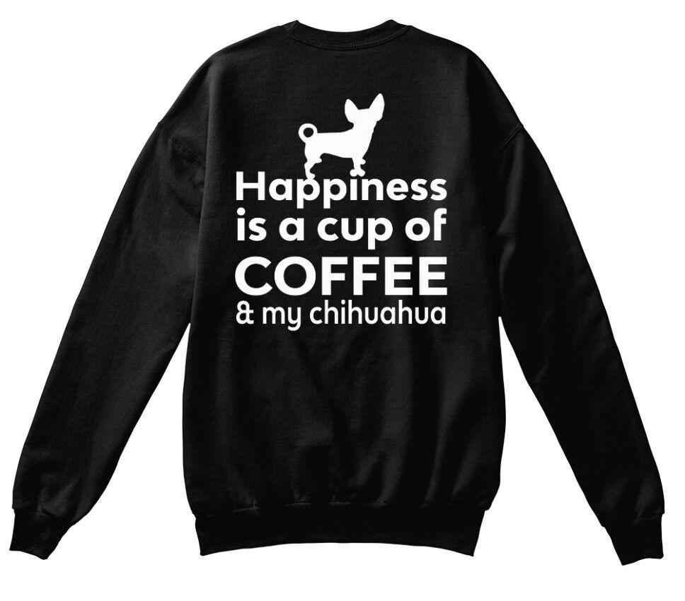 Confortable Le Bonheur Est Café & Amp Chihuahua-un Standard Unisexe Sweat