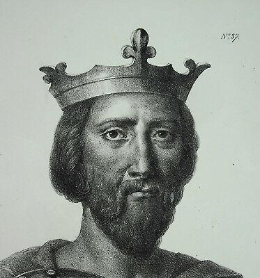 Antique Print Henri Ier Roi Des Francs Dynastie Capétiens Fils Robert Le Pieux