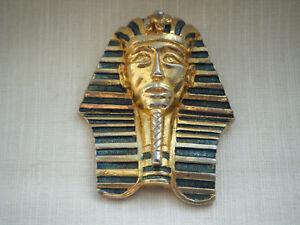 "Broche Vintage Estampado 'Tutankamón modele Adrian Mann Londres ""C1980s"