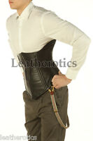 Leather Corset For Men Tight Lacing Back Posture Support