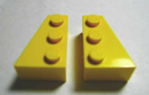 LEGOS 3 Left /& 3 Right THICK Wedge 3 x 2  YELLOW Set of 3 Matched Pairs