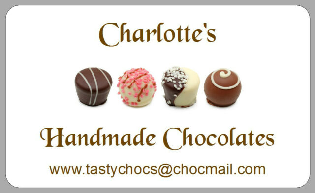 21 chocolates stickers truffles labels homemade handmade xmas gift personalised