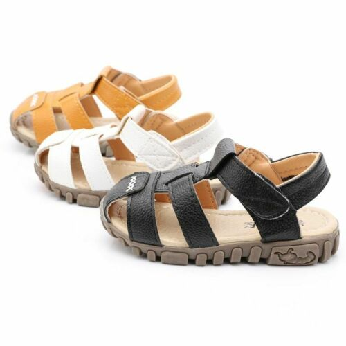 Boys and Girls Children Sandals Soft Leather Summer Beach Shoes Kids Slippers