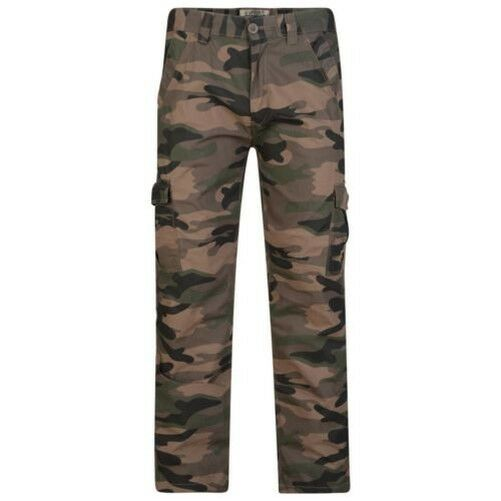 KAM Pure Cotton Camoflauge Pants Trousers (F-123) in Waist 28 to 40, L30 32 34