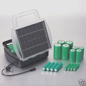 Recharge 4 AA AAA C or D Batteries At One Time W/ Newest Solar Battery Charger!!