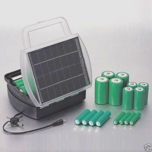 ***Charge 4 AA AAA C or D Batteries At Once W/ Solar Battery Charger! Free Ship!