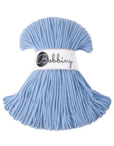 100m FREE P/&P 3mm Baby blue Bobbiny rope//cord New 100/% cotton