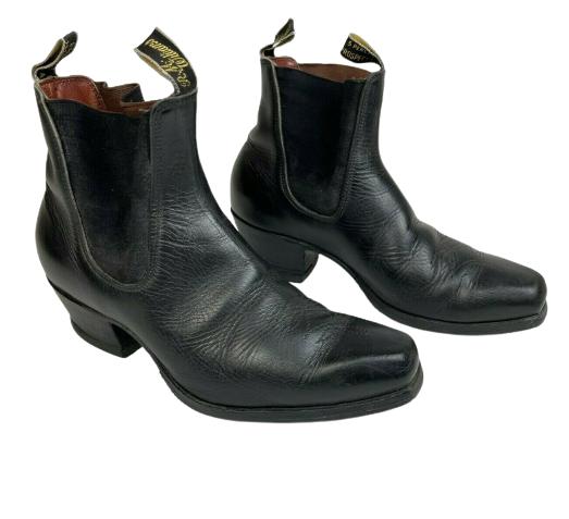 RM Williams Black Santa Fe Boots Black Leather Size 8.5