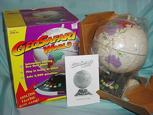 NEW GeoSafari World Globe Talking Quiz Game Earth ...