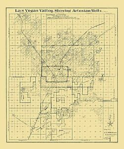 Las Vegas Valley Nevada Landowner - McWilliams 1920 - 23 x 27.44 | on