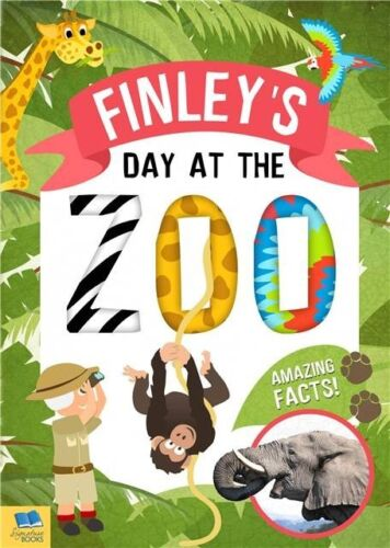 Personalised Childrens My Day At The Zoo Softback Fun Facts Educational Book sg1