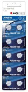 10 Stück Agfaphoto Knopfzellen Uhrenbatterien Knopf Zellen Ag0 Lr521 1.5v Gutes Renommee Auf Der Ganzen Welt