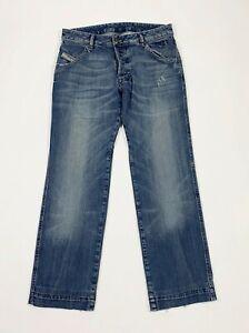 Diesel-jeans-bumix-uomo-usato-W30-tg-44-blu-denim-used-straight-boyfriend-T5729