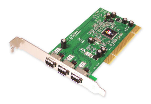 SIIG FireWire 3-Port PCI Adapter Card Three External IEEE 1394 Port NN-400012-S8