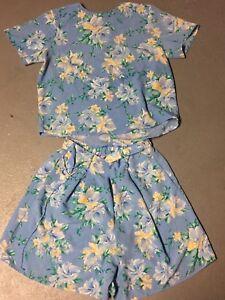 Collectibles chiaro donna Smith Camicetta da Jaclyn floreale Sz blu stampa Shorts 12 con qvB01EnS