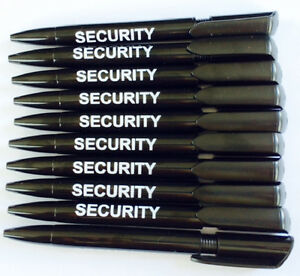 Smart 10 X Quality Black Pens Branded Security With Black Ink Security,prison Office Business & Industrial