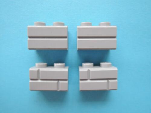 Lego 10 x Mauerstein Ziegelstein 98283 neu hellgrau   1x2  neuw.