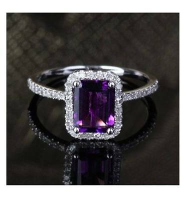 FANCY 6 CT AMETHSYT MARQUISE SHAPE 925 STERLING SILVER RING SIZE 5-10