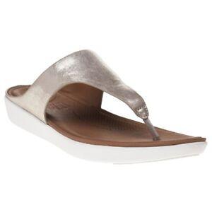 op Slippers lederen Womens Banda Nieuwe slip Fitflop zilver sandalen Ii metallic 7O4qRvwq