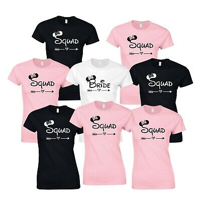 Handwriting Hen Party T-Shirts Selection Custom Personalised Top Bride Wedding