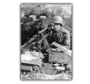 War-Photo-German-MG-42-machine-gun-killer-WW2-Glossy-Size-034-4-x-6-034-inch-Q
