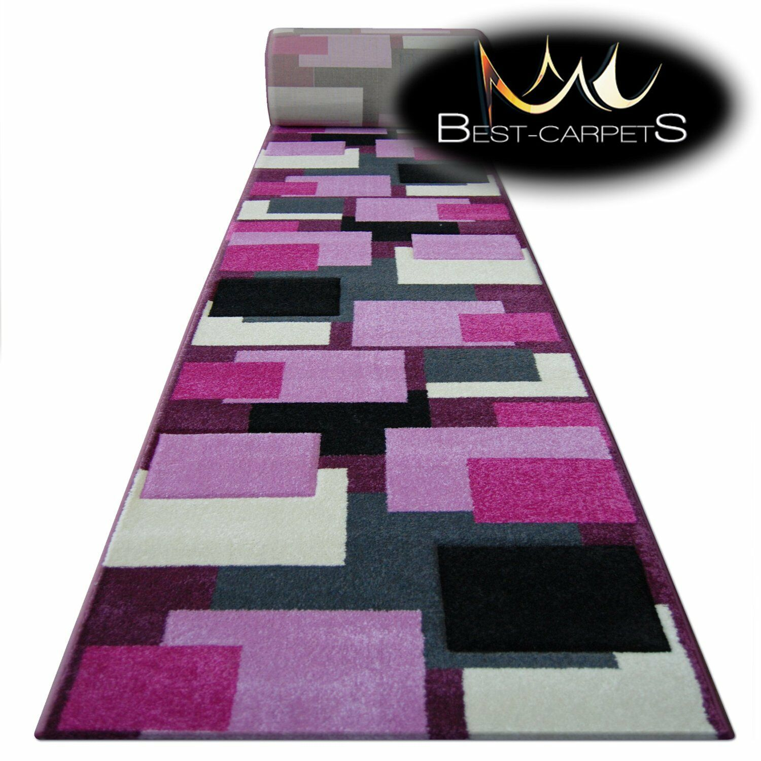 Runner Rugs, Rugs, Rugs, pilly 8404 Purple/Pink, moderne, Stairs Width 70-120 cm Extra Long | Une Bonne Conservation De Chaleur  71b059
