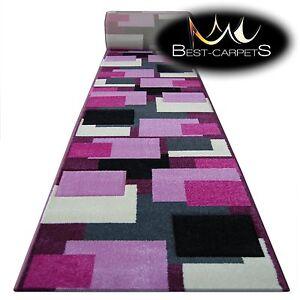 CHEMIN-DE-TABLE-Tapis-Pilly-8404-Violet-rose-moderne-Escaliers-largeur-70-120-cm