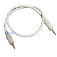 1.2 metre WHITE 3.5mm AUX Stereo Jack Cable 1.2m BUDGET AUDIO LEAD