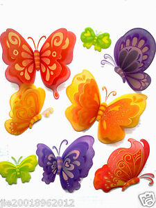 Image Is Loading 3D Removable Butterfly Art Decor Wall Stickers Kids  Part 53