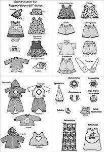 35-Schnittmuster-fuer-Puppenkleidung-Puppen-Stoffpuppen-Puppengroesse-38cm