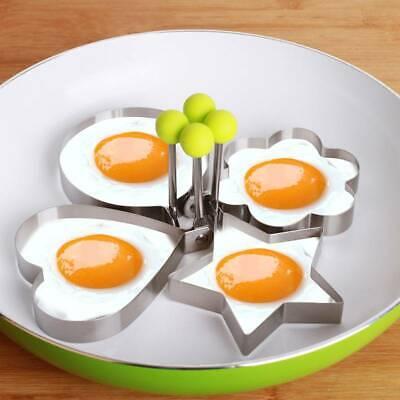 Silikon Spiegeleiform Eierring Spiegelei Antihaft Eierform Pfannenring DE 4 Stk
