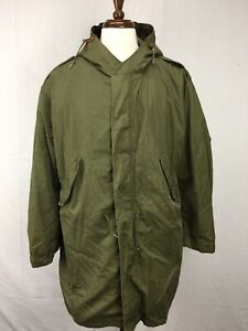M-1951-Korean-War-Military-Parka-Shell-Hood-Mohair-Liner-Army-Fishtail-Jacket-M