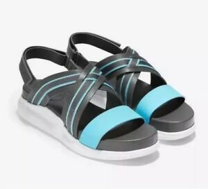 62b5f886c22 Image is loading Cole-Haan-Zerogrand-Criss-Cross-Gladiator-Sandals-9-
