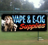 Vape & E-cig Supplies Advertising Vinyl Banner Flag Sign Many Size Available Usa