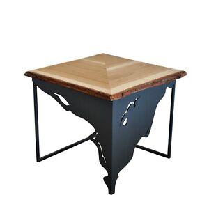 Details About Modern Unique Metal Oak Handmade Designer Coffee Table Connection