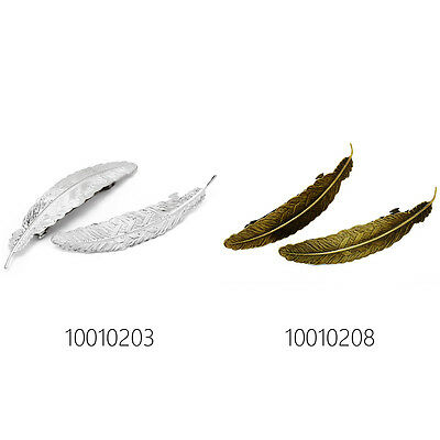 10pcs 112*23mm Feather Bezel Hairpin Barrette Bobby Pin,Hair Pin