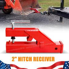2 Trailer Hitch Bucket Clamp Ball Mount Receiver Fit Bobcat Tractor Skidsteer