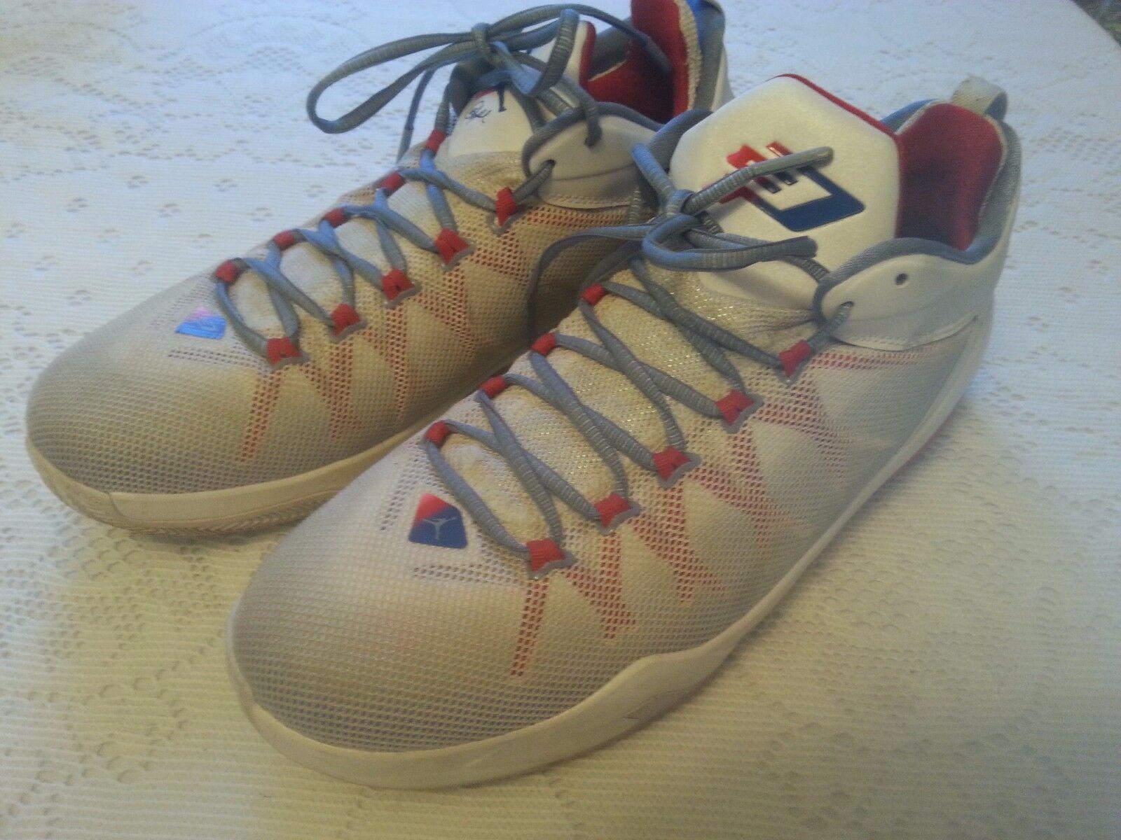 Nike Air Shoes Jordan 725173-107 CP3.VIII AE Chris Paul Wht/Royal/Red/Blue 11.5