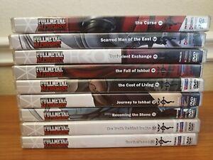 Lot of 9 Fullmetal Alchemist DVDs Japanese Manga Anime with Booklets
