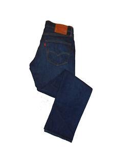 Levi-Strauss-511-Slim-Fit-W32-L32-Leather-Patch-Mens-Blue-Denim-Jeans